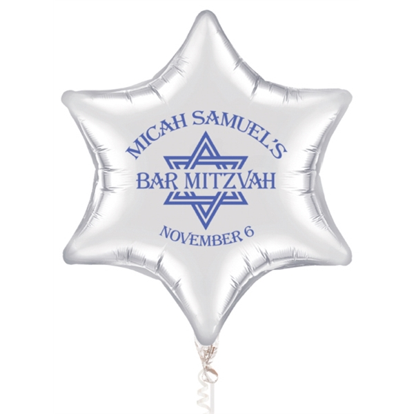 "22"" Six Point Star Microfoil (R) Balloon Small Quantity"