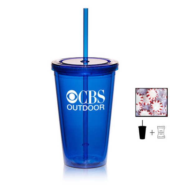 Plastic Tumbler Cup with Starlite Mints - 16 oz. - Drinkware
