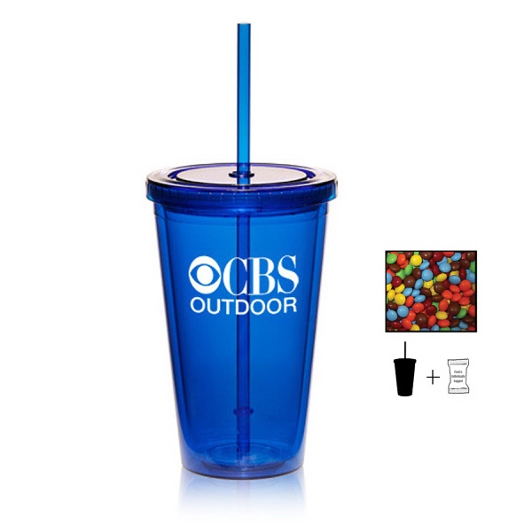 Tumbler Cup with Chocolate Littles - 16 oz. - Drinkware