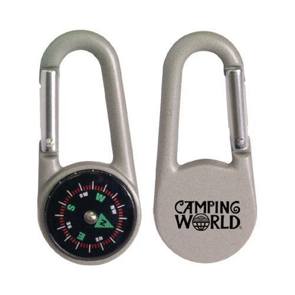 Die-Cast Metal Carabiner Clip with Compass