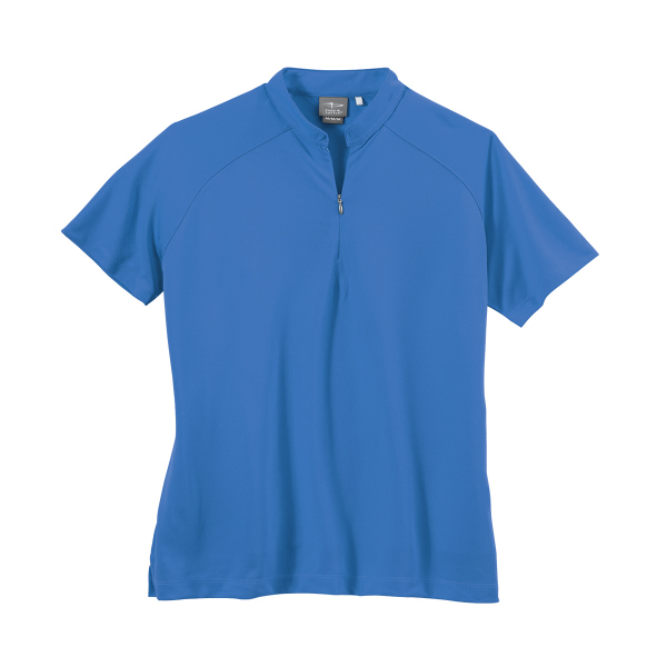Page & Tuttle Women's Dot Textured Solid Jersey Polo