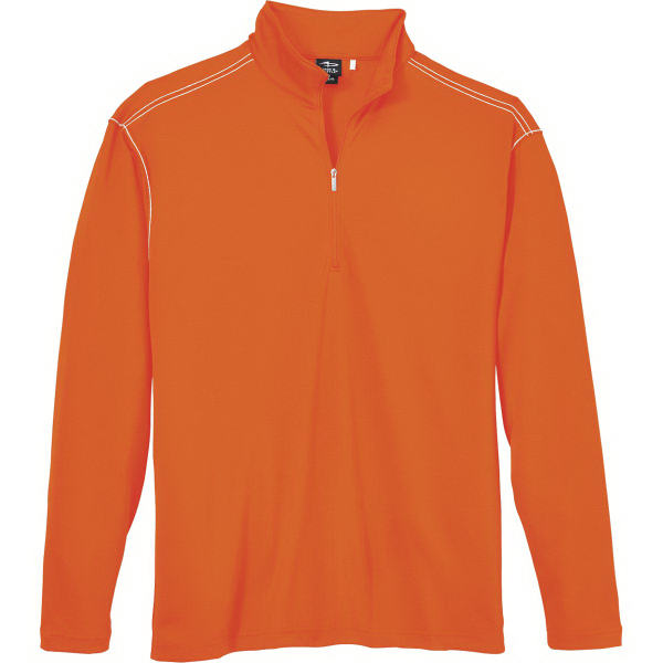 Page & Tuttle Men's Quarter-Zip Contrast Stitch Interlock
