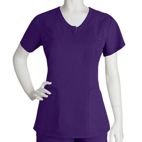 Barco Grey's Anatomy V-Neck Placket Top