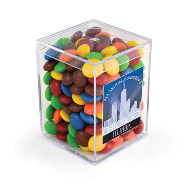 "3"" Geo Container - Chocolate Buttons, Full Color Digital"