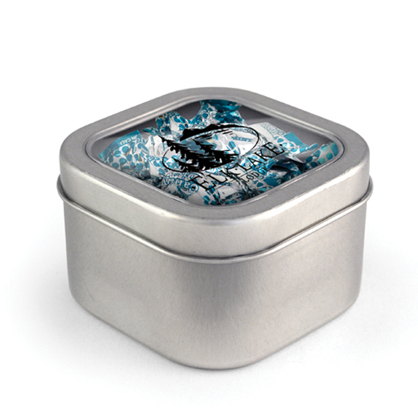 Square Window Tin - Candy Dish Mints