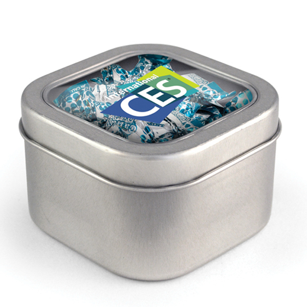 Square Window Tin - Candy Dish Mints, Full Color Digital