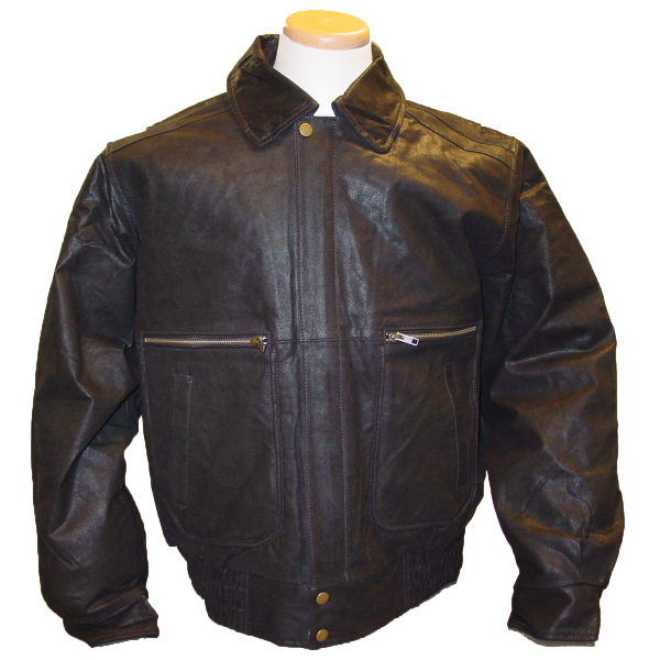 Burk's Bay Men's Brushed Leather Bomber