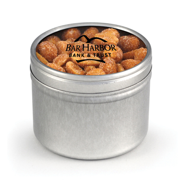 Round Window Tin - Honey Roasted Peanuts