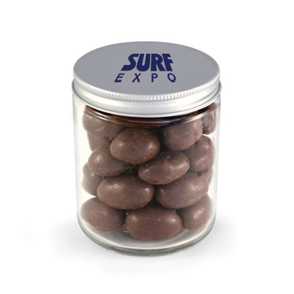 Glass Jar - Chocolate Covered Almonds
