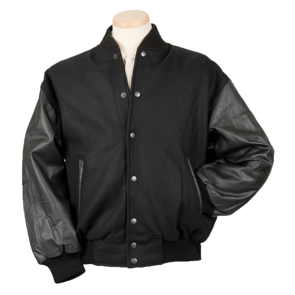 Burk's Bay Men's Custom Wool and Leather Varsity Jacket