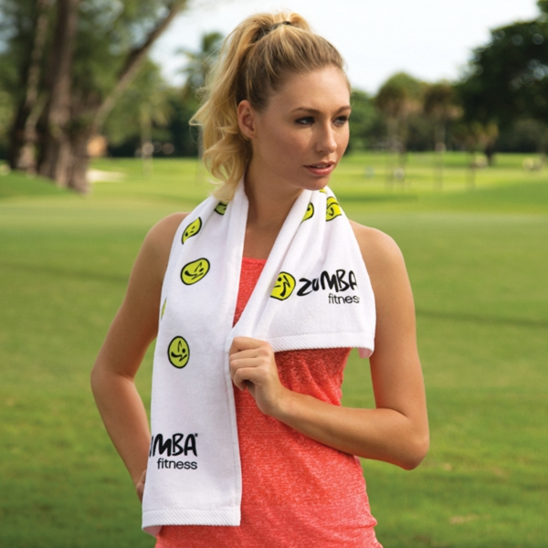 Fitness towel with CleenFreek (R) White