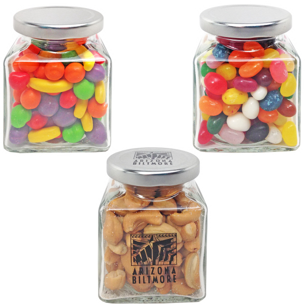 Dorchester Small Square Glass Jar Chocolate Candy
