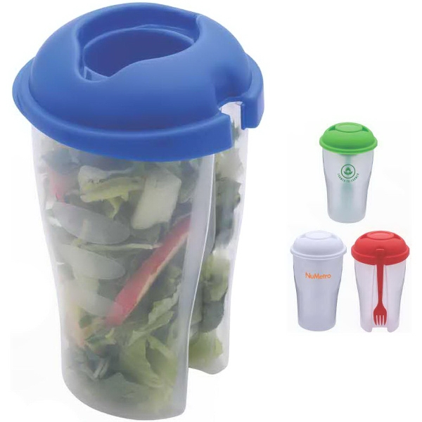 Salad Buddy Salad Shaker with Dressing Cup and Fork
