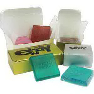 Boxed Custom Small Soap Squares (4 Bars)