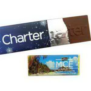 1.5 oz. Chocolate Bar Foiled with Paper Wrapper