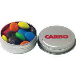 Silver Pocket Tin filled with Candy Coated Chocolate