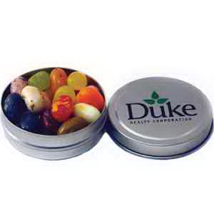 Silver Pocket Tin filled with White Gourmet Mints