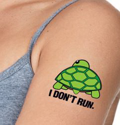 3x3 Custom Tattoo for Races, Marathons, Athletic Events