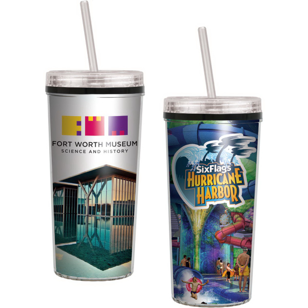 16 oz Niagara Insulated Tumbler with Full Color Impr