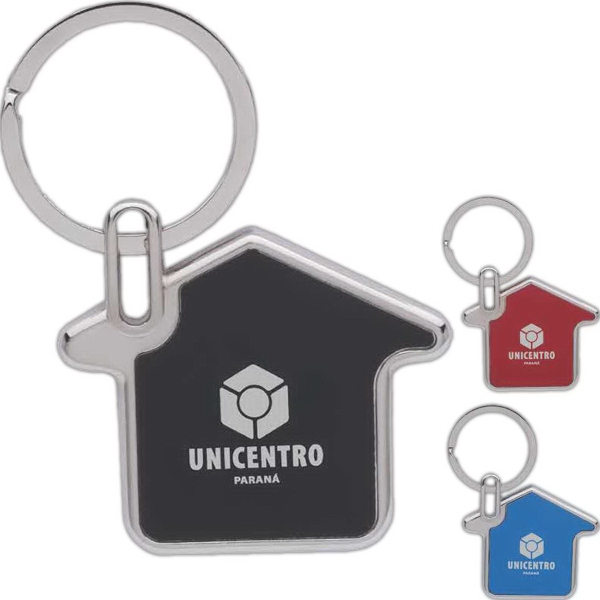 House Shaped Metal Key Chain