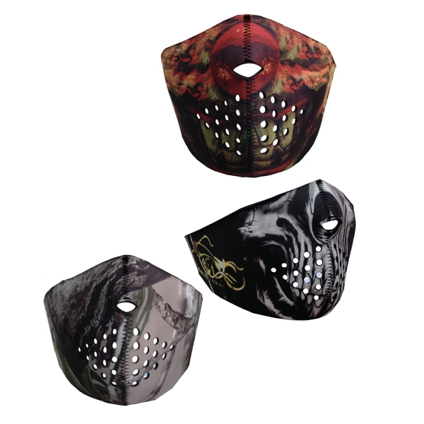 Full-Color Sublimation Half Face Mask Ski Motorcycle