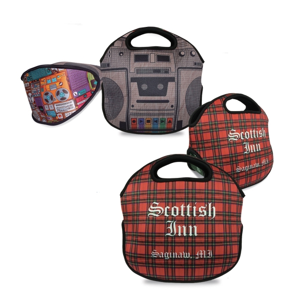 Neoprene Insulated Lunch Picnic Tote Bag Full Color