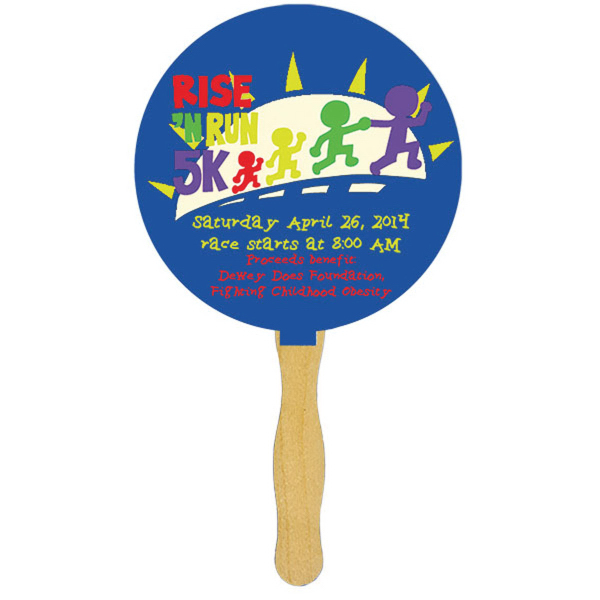 Mini Hand Fan with Glued Handle