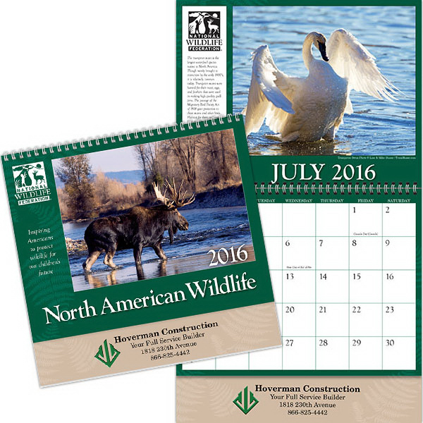 Kingswood Collection Wildlife Wall Calendar