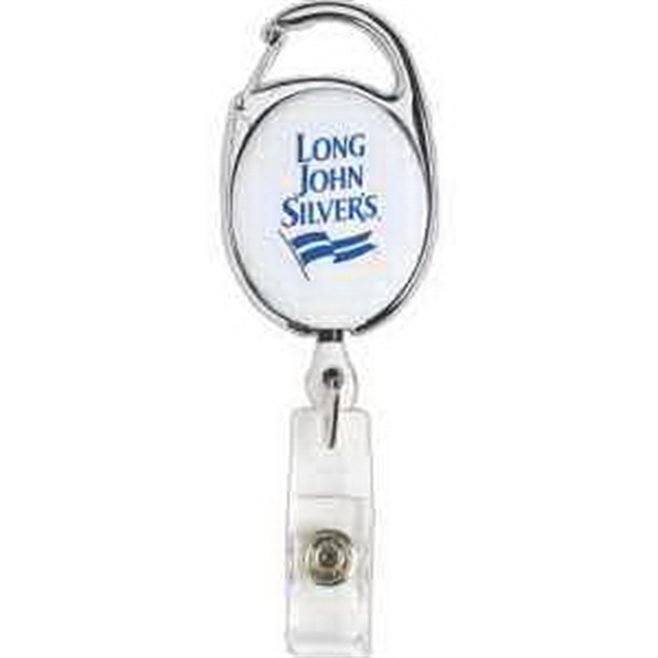 Carabiner Style Retractable Badge Holder