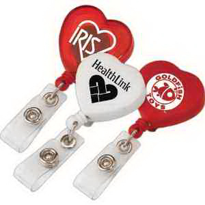 Heart Retractable Badge Holder