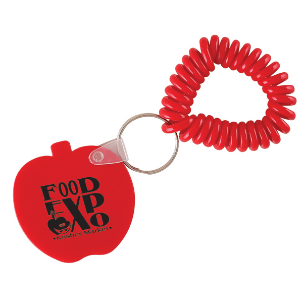 Apple Key Chain with Coil