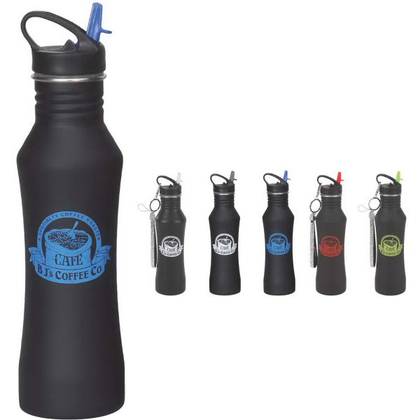 16 oz. Stainless Steel Matte Water Bottle
