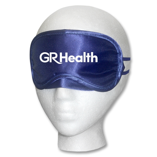 Navy Satin Sleep Mask