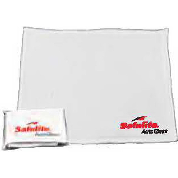 2 Sided Plush Cleaning Cloth with Pouch