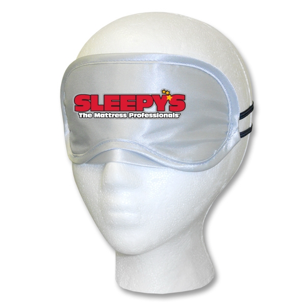 Silver Satin Sleep Mask Multi-Color Print