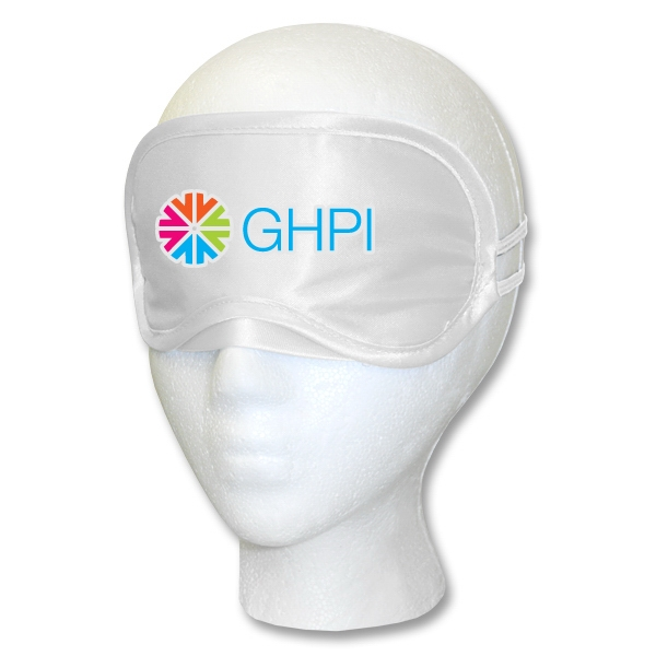 White Satin Sleep Mask Multi-Color Print