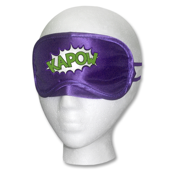 Purple Satin Sleep Mask Multi-Color Print