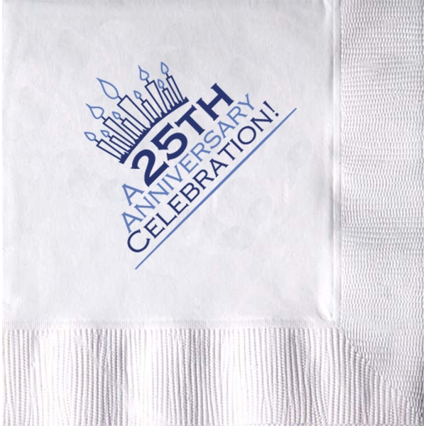 "5"" x 5"" - White 3-Ply Cocktail Napkin"