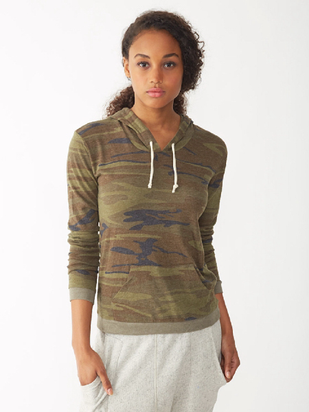 Women's Printed Classic Pullover Hoodie
