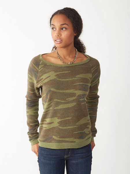 Women's Printed Dash Pullover
