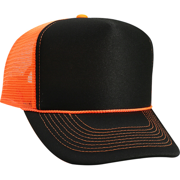 Five Panel High Crown Golf Style Mesh Back Cap