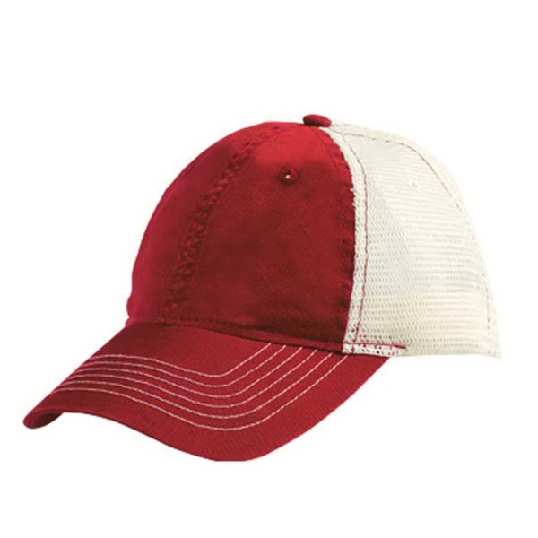 ZKapz Bio-Washed Cotton Trucker Cap with Soft Mesh Back