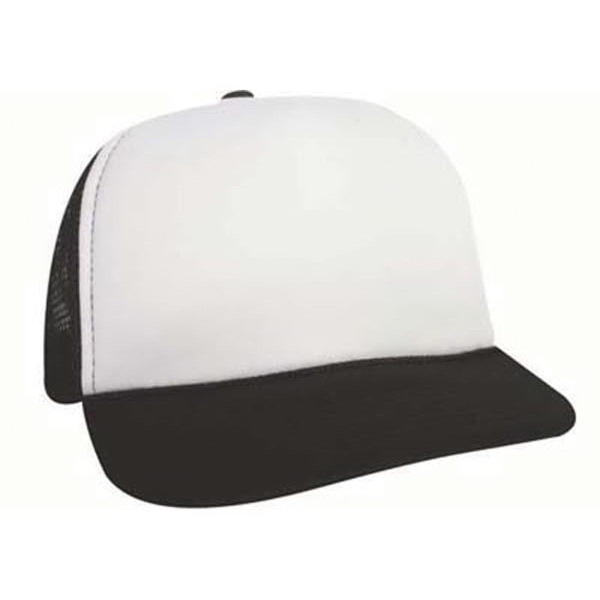 KC Caps 5 Panel Poly Foam Mesh Trucker Cap