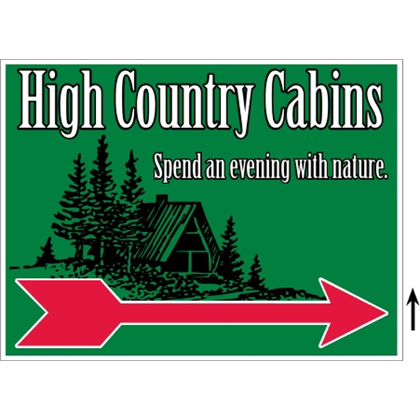 "24"" x 18"" Corrugated Sign - 3 Colors, 2 Sides"