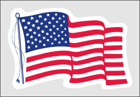"Static Stick Flag - 4"" x 2.75"""
