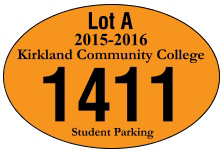 "3"" x 2"" Oval Reflective Parking Permit"