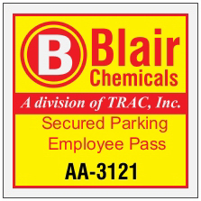 "3"" x  3"" Square Reflective Parking Permit"