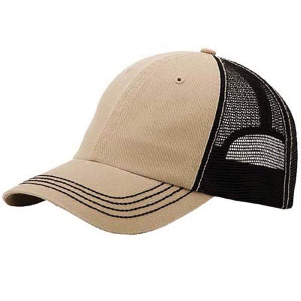 Mega Cap 6 Panel Unstructured Cotton Twill Wash Trucker Cap