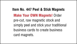 Peel & Stick Adhesive Magnets - No Print