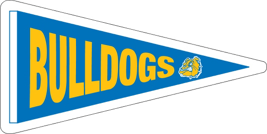 "15"" x 7.5"" Pennant Magnetic Sign"